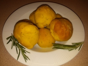 Baked Rosemary and Sea Salt Sweet Potato Rolls