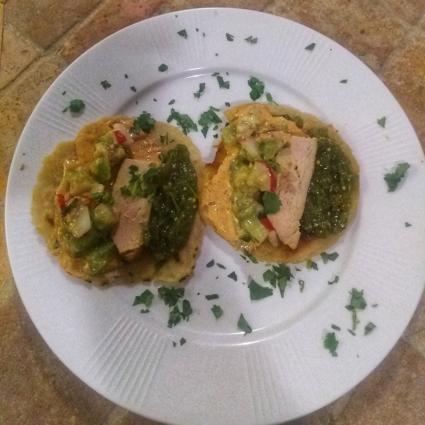 Seared Chicken with Tomatillo Salsa